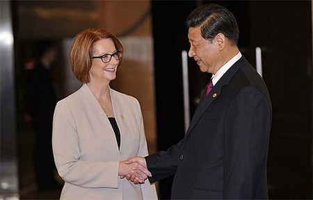 Julia Gillard and Xi Jinping