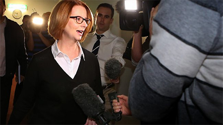 Prime Minister Julia Gillard says failed asylum seekers should go home. Picture: Ray Strange