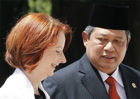 Julia Gillard and Susilo Bambang Yudhoyono in 2010