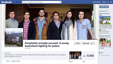"""""""Peru Six"""" Facebook page"""
