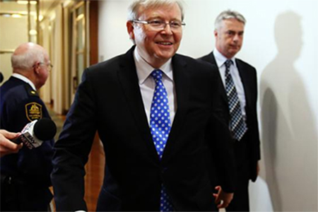 Kevin Rudd has won back the Labor leadership, three years after he lost it