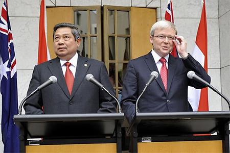 Susilo Bambang Yudhoyono and Kevin Rudd