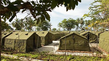 Manus Island Tents