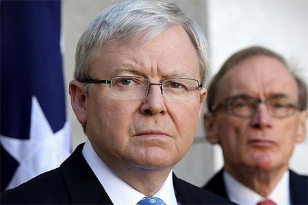 Prime Minister Kevin Rudd, with Foreign Minister Senator Bob Carr, said Australia would have an important role to play in finding a solution to violence in Syria