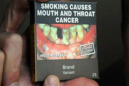 In 2011, Australia passed a pioneering legislation requiring tobacco products to be sold in drab green boxes with the same typeface and graphic images of diseased smokers