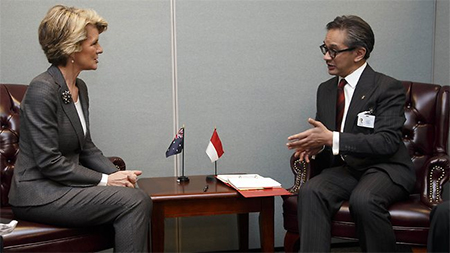 Julie Bishop and Marty Natalegawa