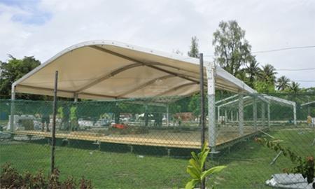The Manus Island regional processing centre takes shape in August. Photograph: Department of Immigration and Border Protection