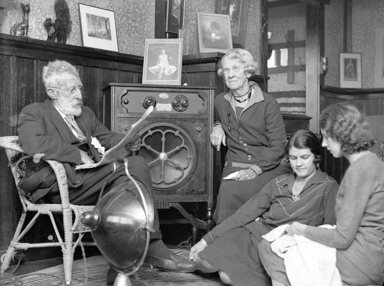 Family Listening to ABC Radio Opening in 1932