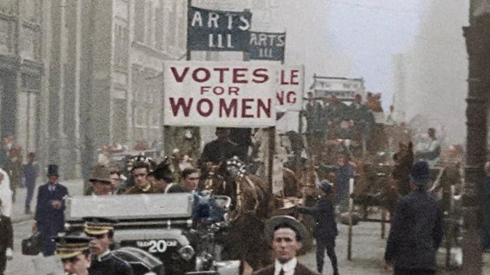 South Australians Marching for Women's Voting Rights