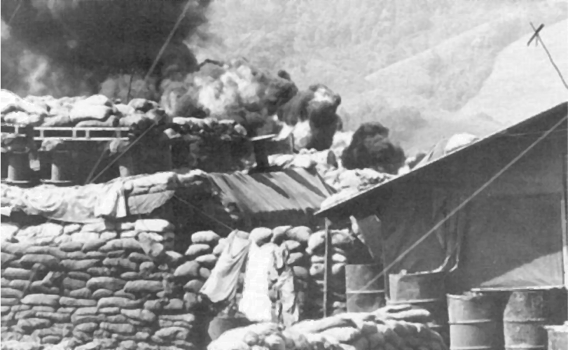 Khe Sanh Bunkers and Burning Fuel Dump