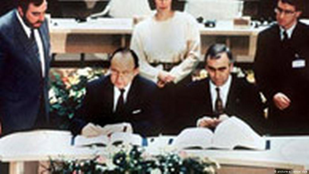 The Maastricht Treaty is signed